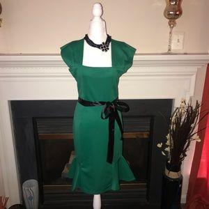 Moda   Emerald Sleeveless Mermaid Dress